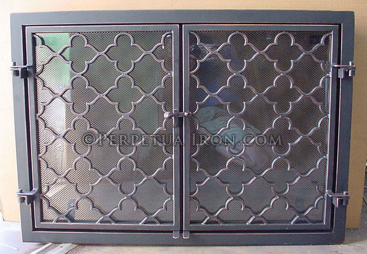 Nice Fireplace Screen 8.1. Wrought Iron Fireplace Screen Or Fire Door ...