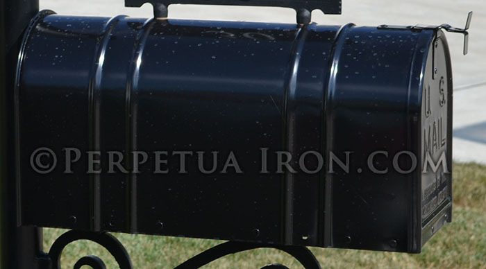 Black ribbed mailbox that can be installed on any of our posts.