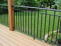 deck wrought iron railing 3 channel design alternating twists