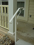elegant one step wrought iron hand rail and post