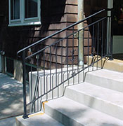 wrought iron porch iron railing with cast iron components