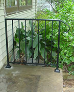 wrought iron railing with pickets for porch
